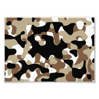 Military Camouflage Pattern Photo Print