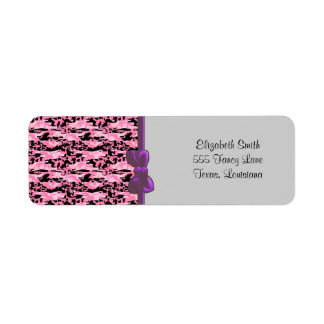 Military Camouflage Pattern - Pink Black