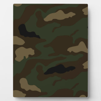 military camouflage pattern plaque