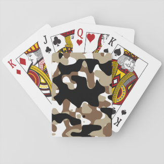 Military Camouflage Pattern Playing Cards