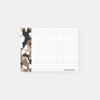 Military Camouflage Pattern Post-it Notes