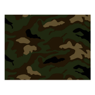 military camouflage pattern postcard
