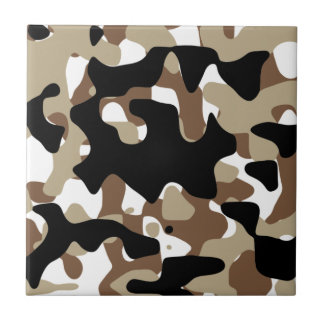 Military Camouflage Pattern Tile