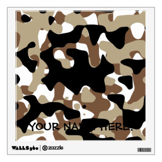 Military Camouflage Pattern Wall Sticker