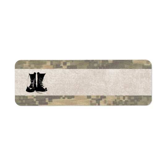 Military Camouflage with Army Combat Boots