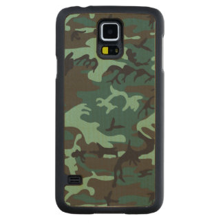 Military Camouflage Maple Galaxy S5 Slim Case