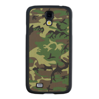 Military Camouflage Maple Galaxy S4 Slim Case