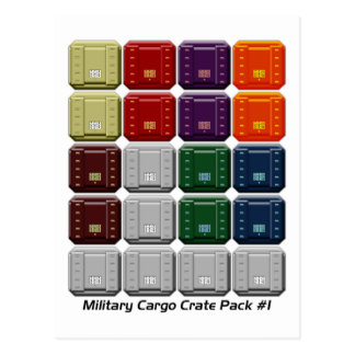 Military Cargo Crate Pack #1 Postcard