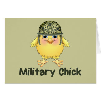 Military Chick Card