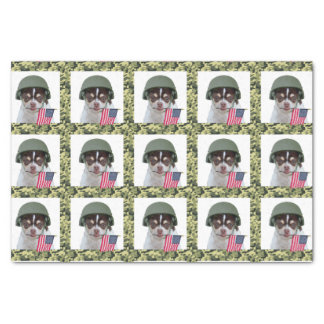 Military Chihuahua Dog tissue paper