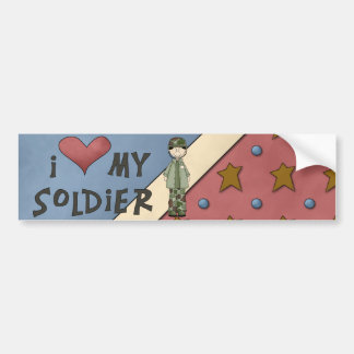 Military Collection Army Soldier Bumper Sticker