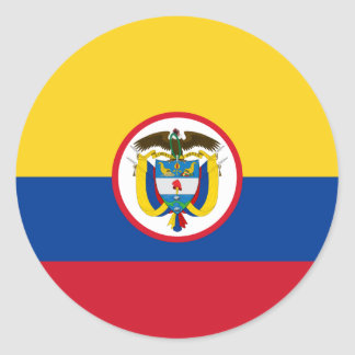 Military Colombia, Colombia flag Round Sticker