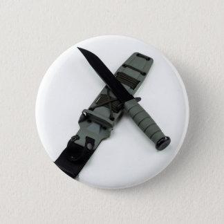 military combat knife cross pattern ka-bar style 2 inch round button