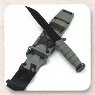 military combat knife cross pattern ka-bar style coaster