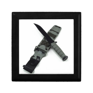 military combat knife cross pattern ka-bar style gift box