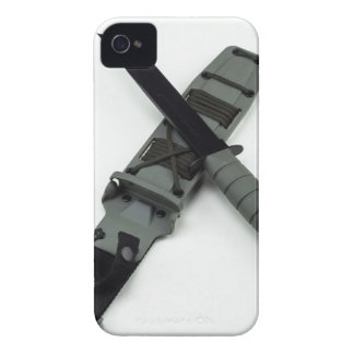 military combat knife cross pattern ka-bar style iPhone 4 cover