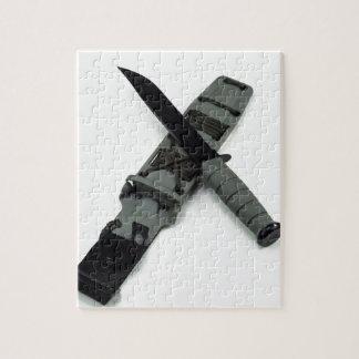 military combat knife cross pattern ka-bar style jigsaw puzzle