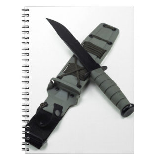 military combat knife cross pattern ka-bar style notebooks