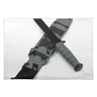 military combat knife cross pattern ka-bar style placemat