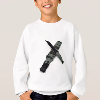 military combat knife cross pattern ka-bar style sweatshirt