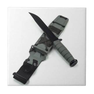 military combat knife cross pattern ka-bar style tile