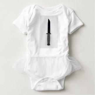 military combat knife vertical  ka-bar style baby bodysuit