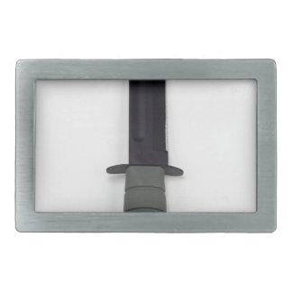 military combat knife vertical  ka-bar style rectangular belt buckle