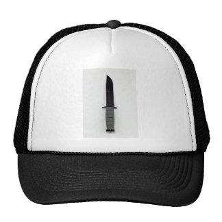 military combat knife vertical  ka-bar style trucker hat