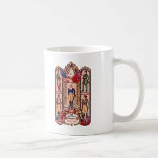Military Costume of the Revolutionary War 1855 Coffee Mug