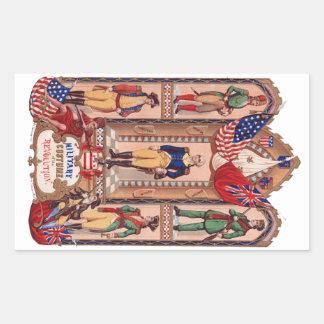 Military Costume of the Revolutionary War 1855 Sticker