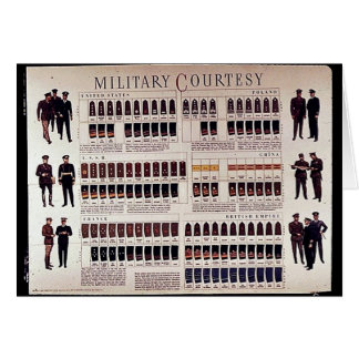 Military Courtesy Greeting Card