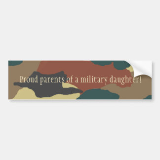 Military Daughter Camouflage Bumper Sticker