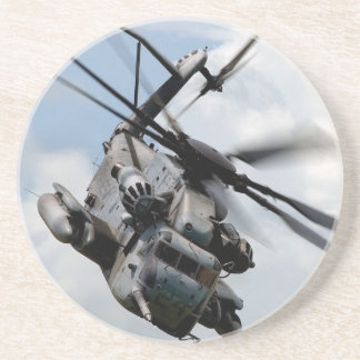 Military defense helicopter beverage coaster