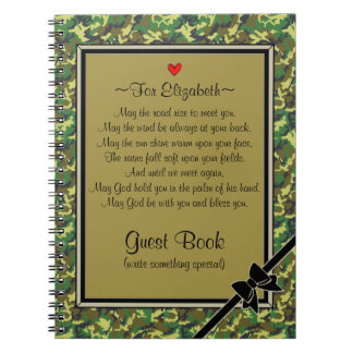 Military Deployment Send Off-Guest Book Spiral Note Books