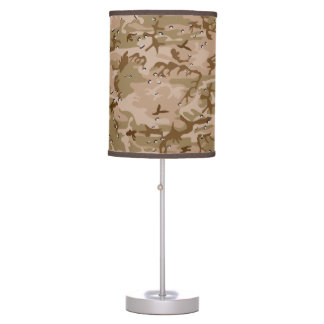 Military Desert Brown Camo Pattern Table Lamp