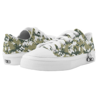 Military Digital Camo Low-Top Sneakers