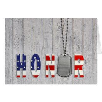 Military Dog Tags Honor Card