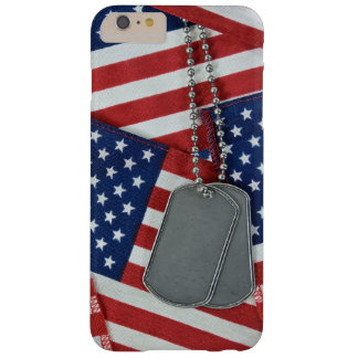 military dog tags on flags barely there iPhone 6 plus case