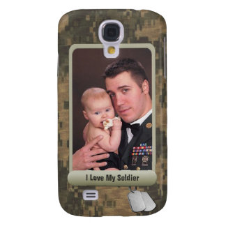 Military Dog Tags Personalized Photo Frame Camo