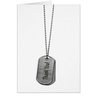 Military Dog Tags Thank You Cards