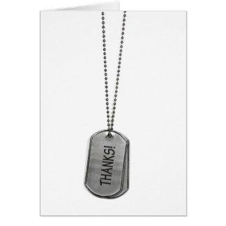 Military Dog Tags Thanks Card