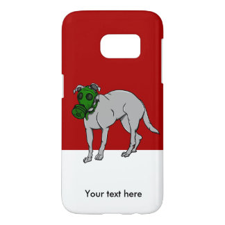 Military  Dog Wearing A Gas Mask Samsung Galaxy S7 Case