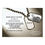 "Military Dogtags Going Away Party 5"" X 7"" Invitation Card"