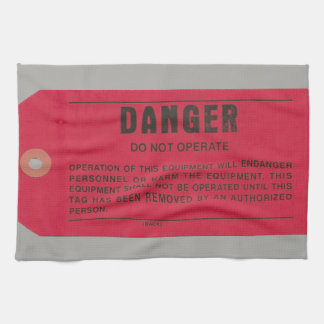 Military Electricians' Danger Tag Kitchen Towel