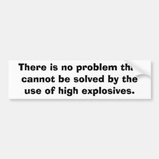 MILITARY - Explosives Bumper Sticker