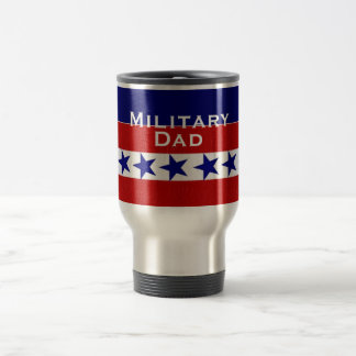 Military Family Dad Custom Personalized 15 Oz Stainless Steel Travel Mug