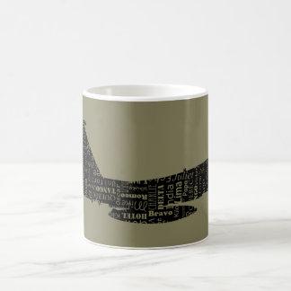 Military Fighter Jet Phonetic Alphabet Pilot Coffee Mug