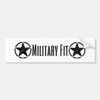 Military Fit bumper sticker