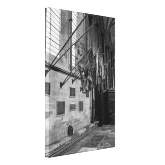 Military flags inside Salisbury Cathedral England Gallery Wrap Canvas