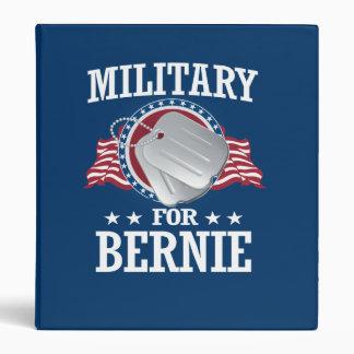 MILITARY FOR BERNIE SANDERS VINYL BINDERS